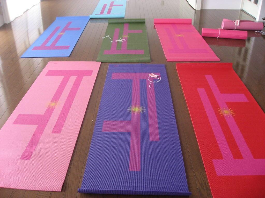 Yogamatte med print