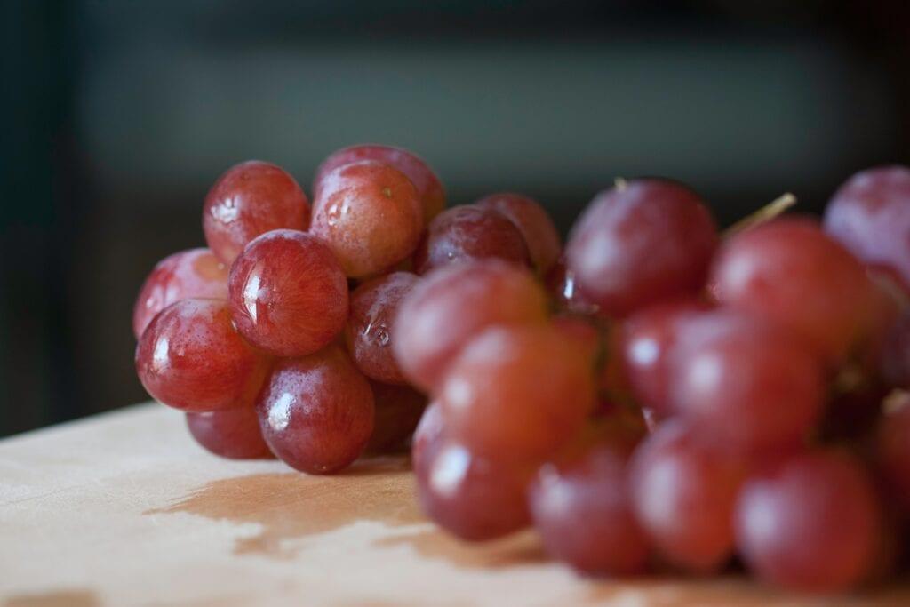 Fryste druer er en veldig sunne snacks