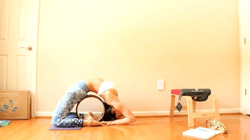 Yoga wheel drills to improve your backbend poses and overall flexibility ALL LEVELS 4 45 screenshot