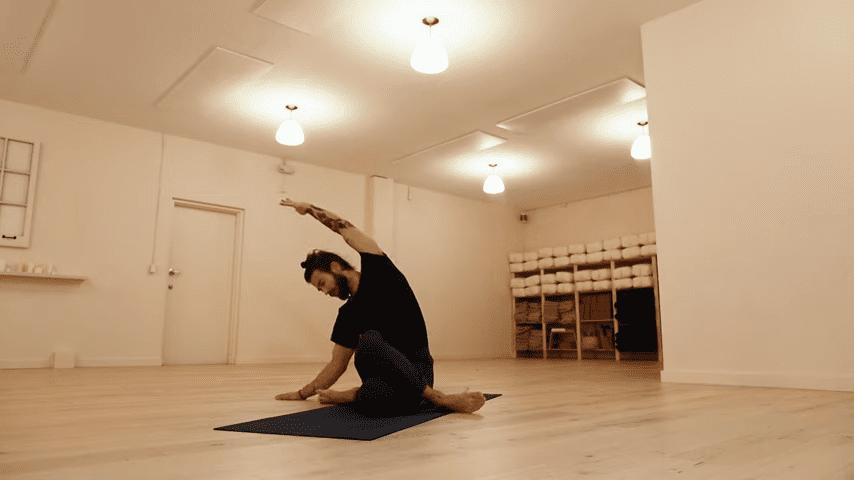 Restorative Hip Opening Yoga Practice Yoga with Patrick Beach 16 59 screenshot