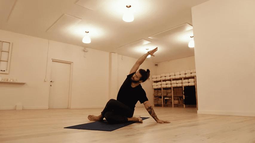 Restorative Hip Opening Yoga Practice Yoga with Patrick Beach 19 4 screenshot