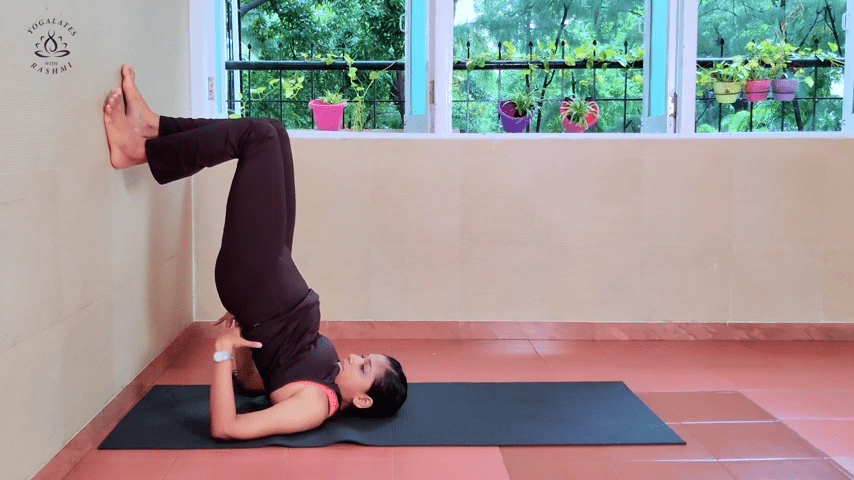 Shoulder Stand or Sarvangasana Easy Step by Step Yoga for Beginners Yogalates with Rashmi 2 49 screenshot