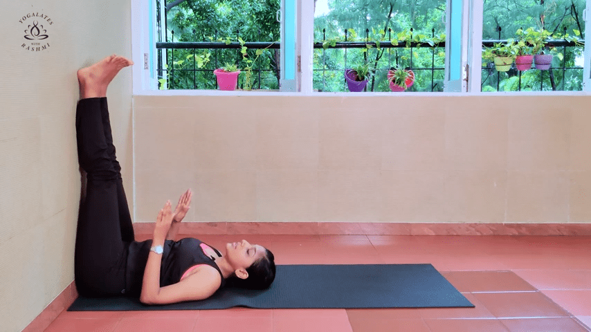 Shoulder Stand or Sarvangasana Easy Step by Step Yoga for Beginners Yogalates with Rashmi 2 5 screenshot