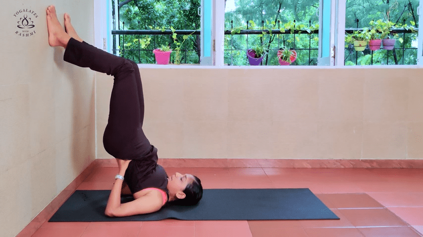 Shoulder Stand or Sarvangasana Easy Step by Step Yoga for Beginners Yogalates with Rashmi 2 55 screenshot