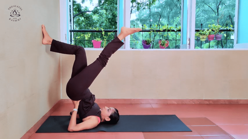 Shoulder Stand or Sarvangasana Easy Step by Step Yoga for Beginners Yogalates with Rashmi 4 24 screenshot