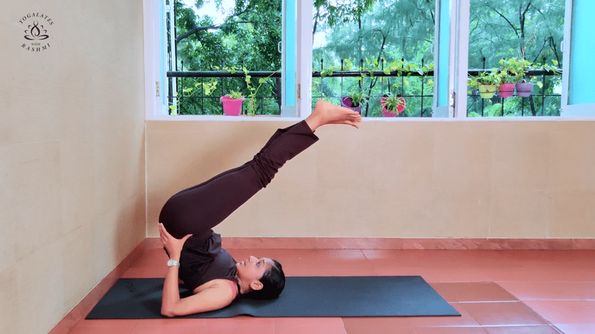 Shoulder Stand or Sarvangasana Easy Step by Step Yoga for Beginners Yogalates with Rashmi 4 34 screenshot