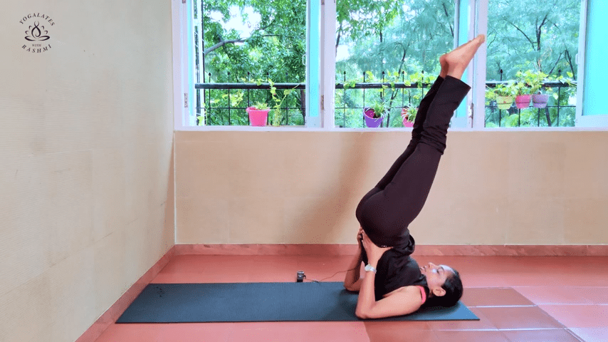Shoulder Stand or Sarvangasana Easy Step by Step Yoga for Beginners Yogalates with Rashmi 6 3 screenshot