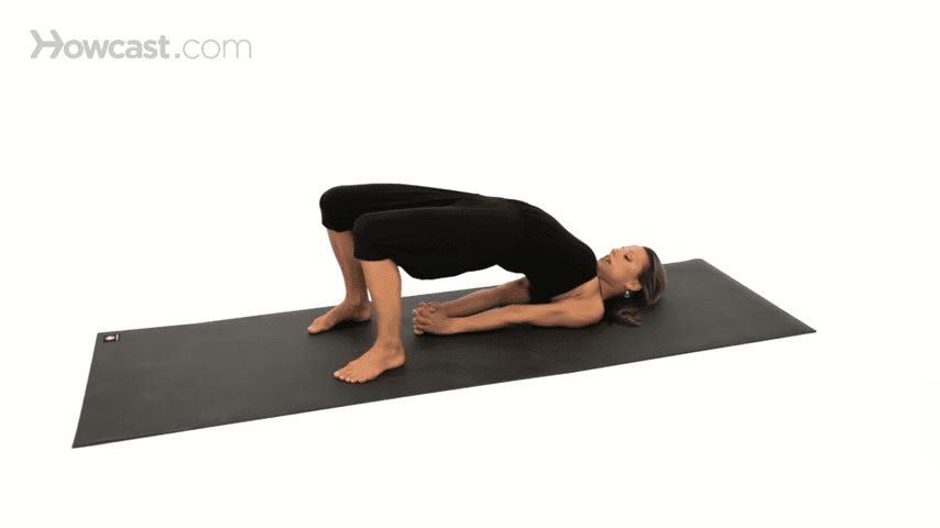 How to Do a Bridge Pose Yoga 1 5 screenshot 1