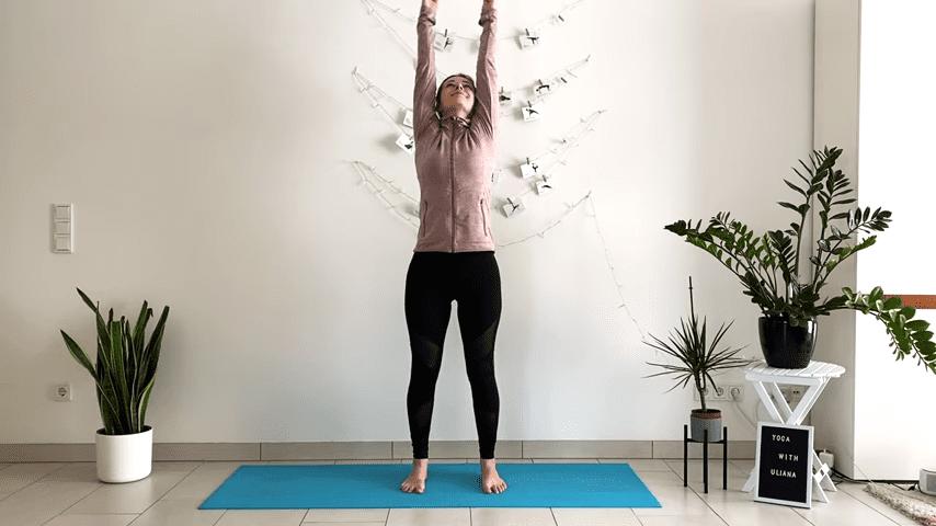 5 MIN STANDING MORNING YOGA STRETCH Yoga without mat Yoga with Uliana 0 17 screenshot
