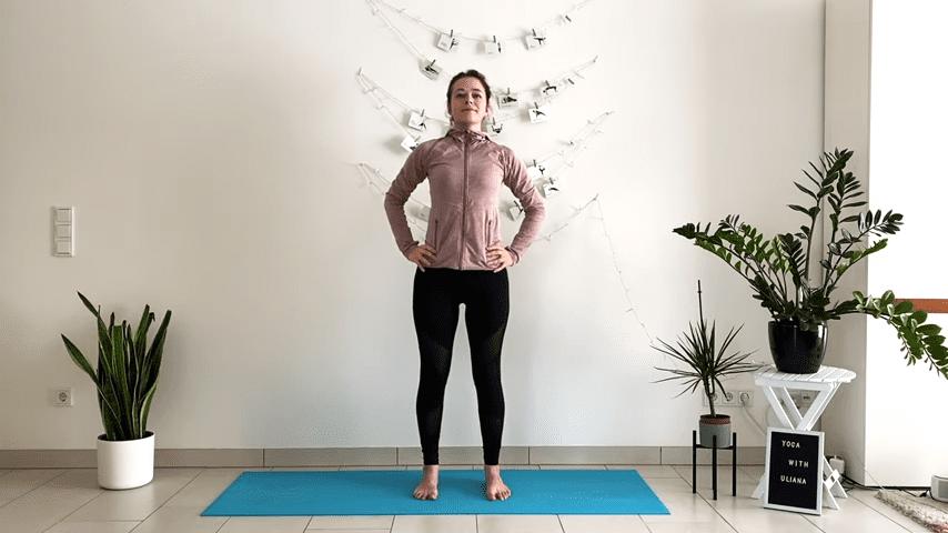 5 MIN STANDING MORNING YOGA STRETCH Yoga without mat Yoga with Uliana 1 8 screenshot