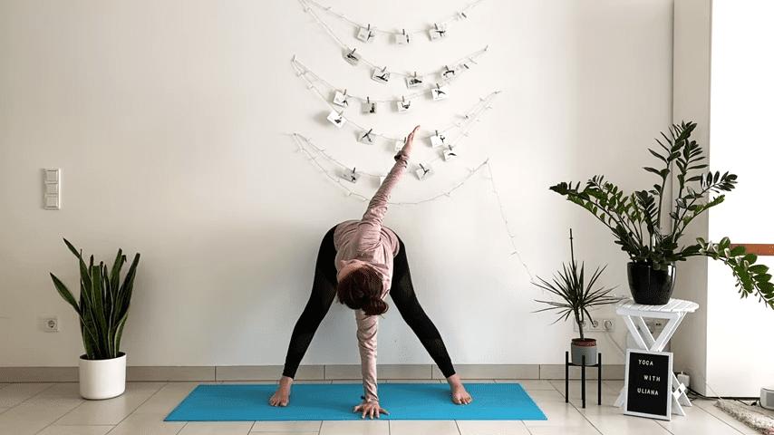 5 MIN STANDING MORNING YOGA STRETCH Yoga without mat Yoga with Uliana 2 53 screenshot