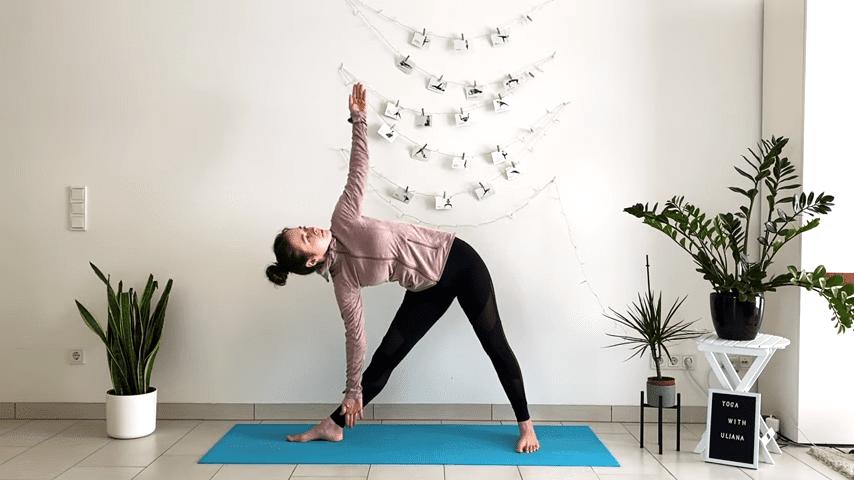 5 MIN STANDING MORNING YOGA STRETCH Yoga without mat Yoga with Uliana 4 3 screenshot