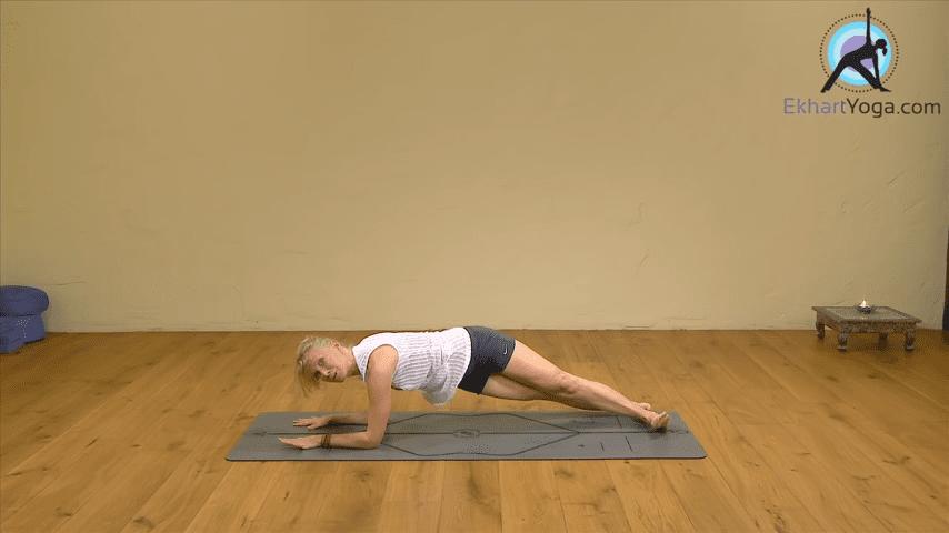 Playing Dolphin Pose into Forearm Balance Yoga with Esther Ekhart 2 3 screenshot
