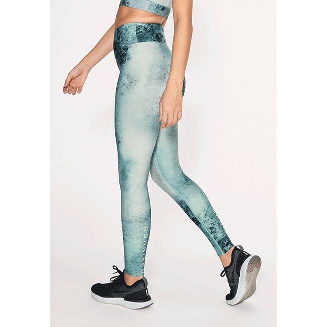 110371T262R Rohnisch Flattering Keira Printed Tights Green Space Dyed 02 jan21