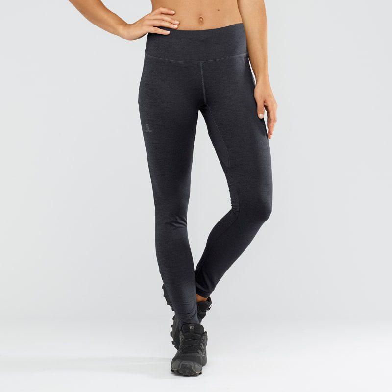 salomon women s agile long tight black ebony heather 1